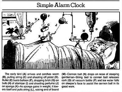 Cartoon by Rube Goldberg