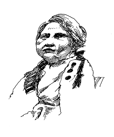 Drawing of Betty Mayther, circa 1976