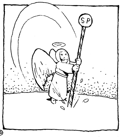 Panel from the original version of SNOW ANGEL