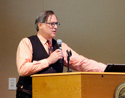 Me giving my presentation on the Portland Scribe