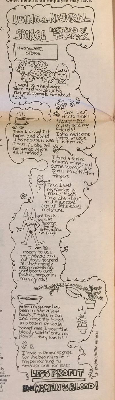 Menstrual Sponge Comic by Billie Miracle