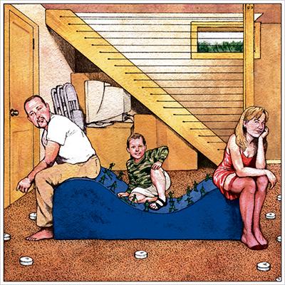 Illustration for Modern Love column by Lori Jakiela