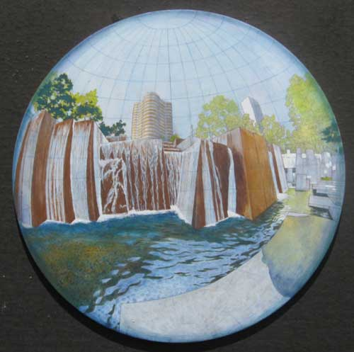 Perspective Drawing of Ira Keller Fountain